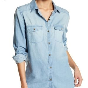 Melrose and Market size L chambray shirt